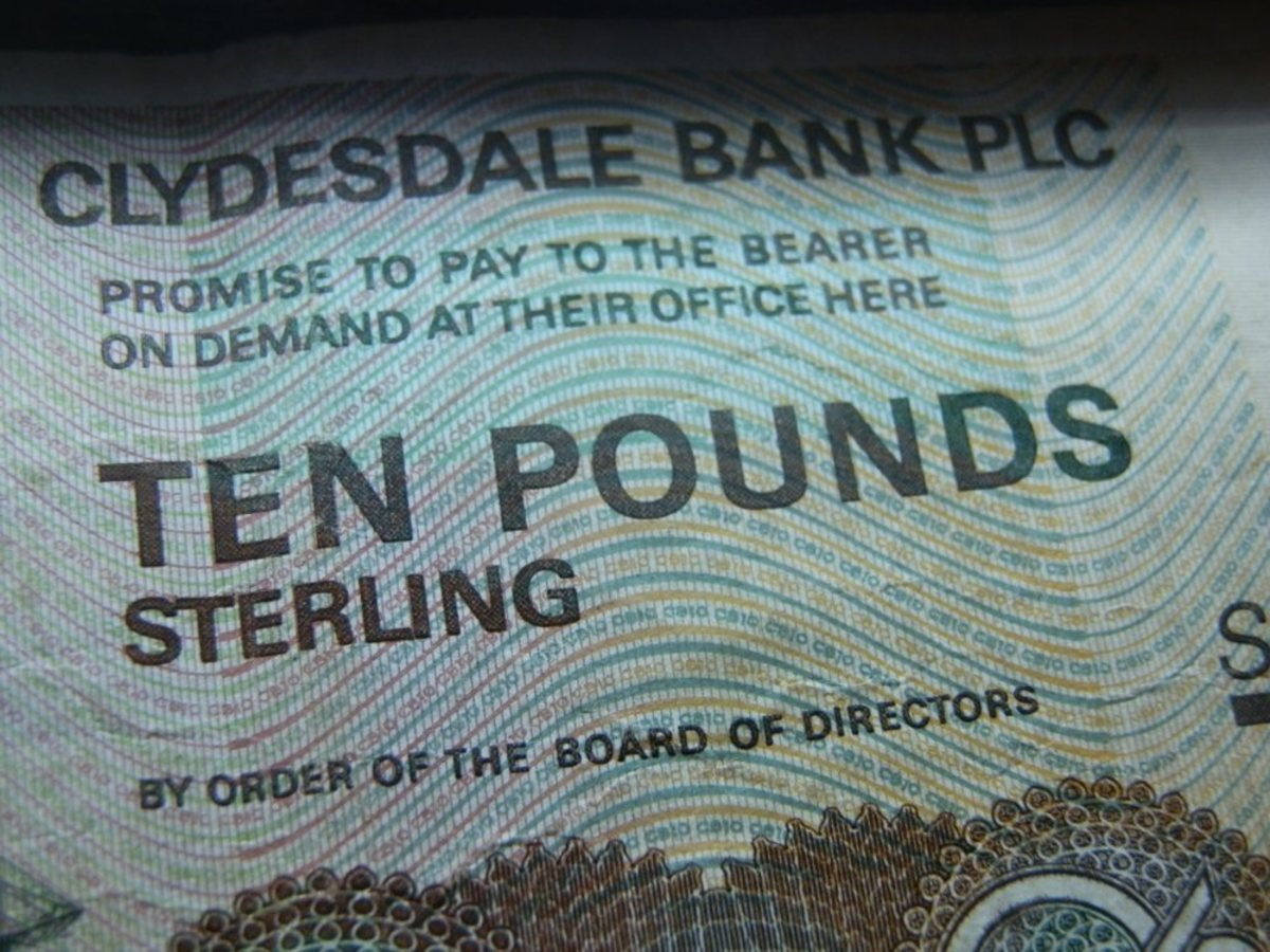 promise to pay the bearer in pounds sterling