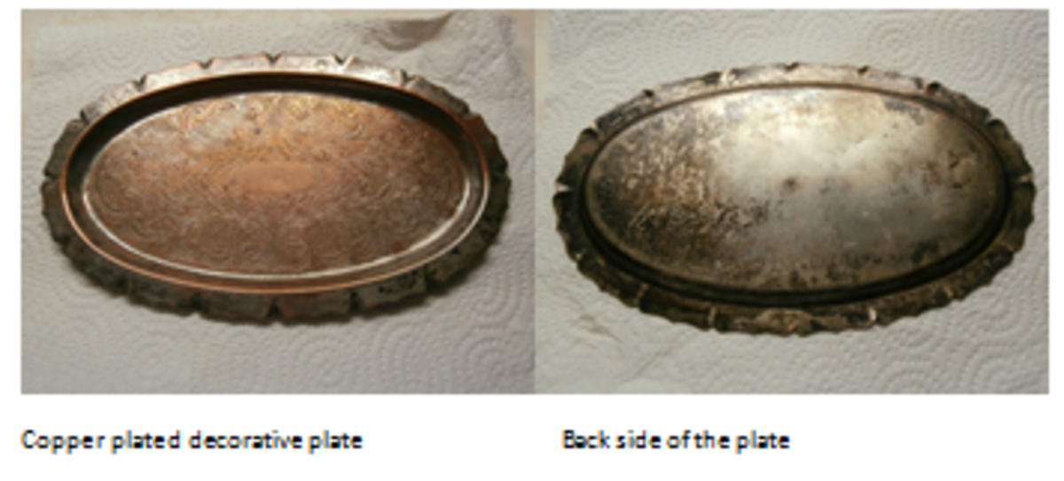 This plate is quite old and quite tarnished. This is the shot before using Tarn-X.