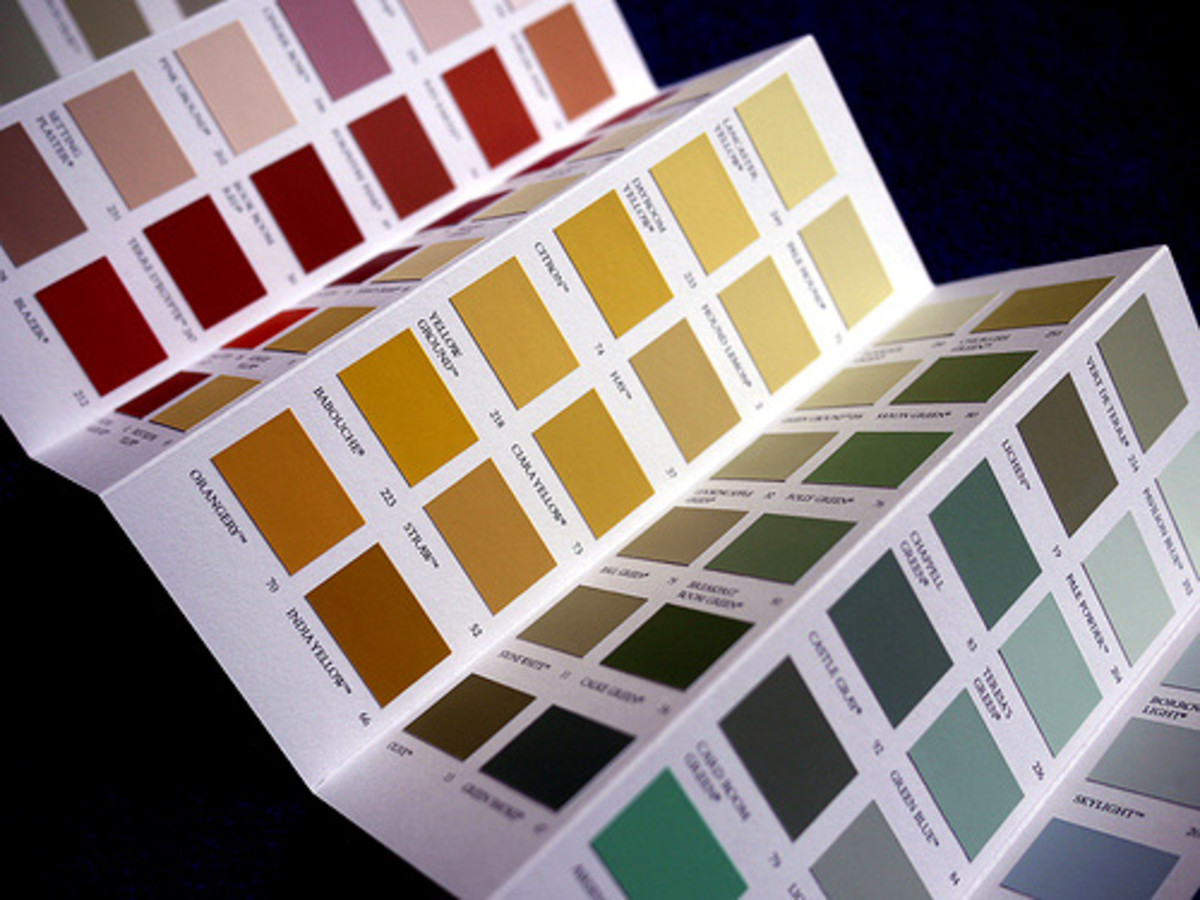 Paint swatches are a great way to spark your imagination.