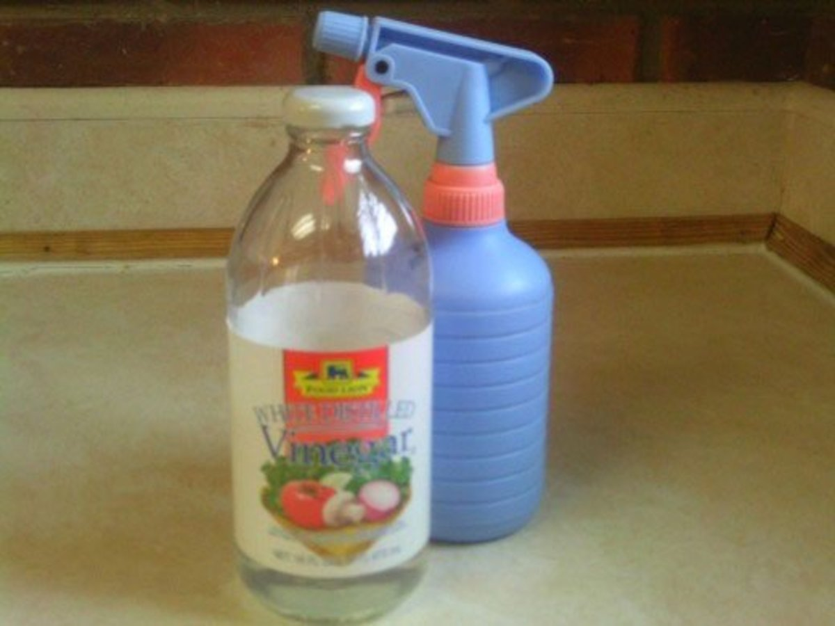 Vinegar is good at removing odors.