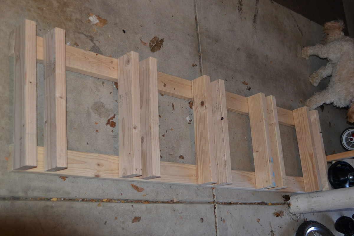The structure for our Do it Yourself Garage Bike Rack