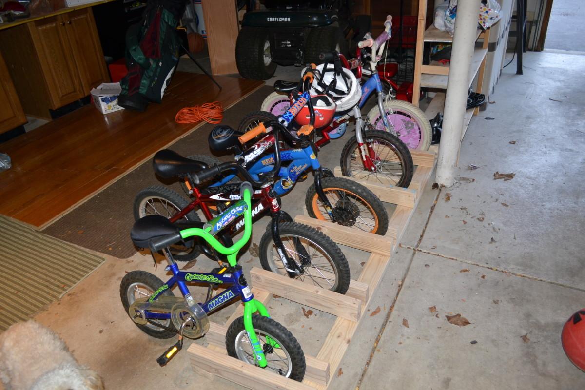 our new garage bike rack - Garage Bike Rack