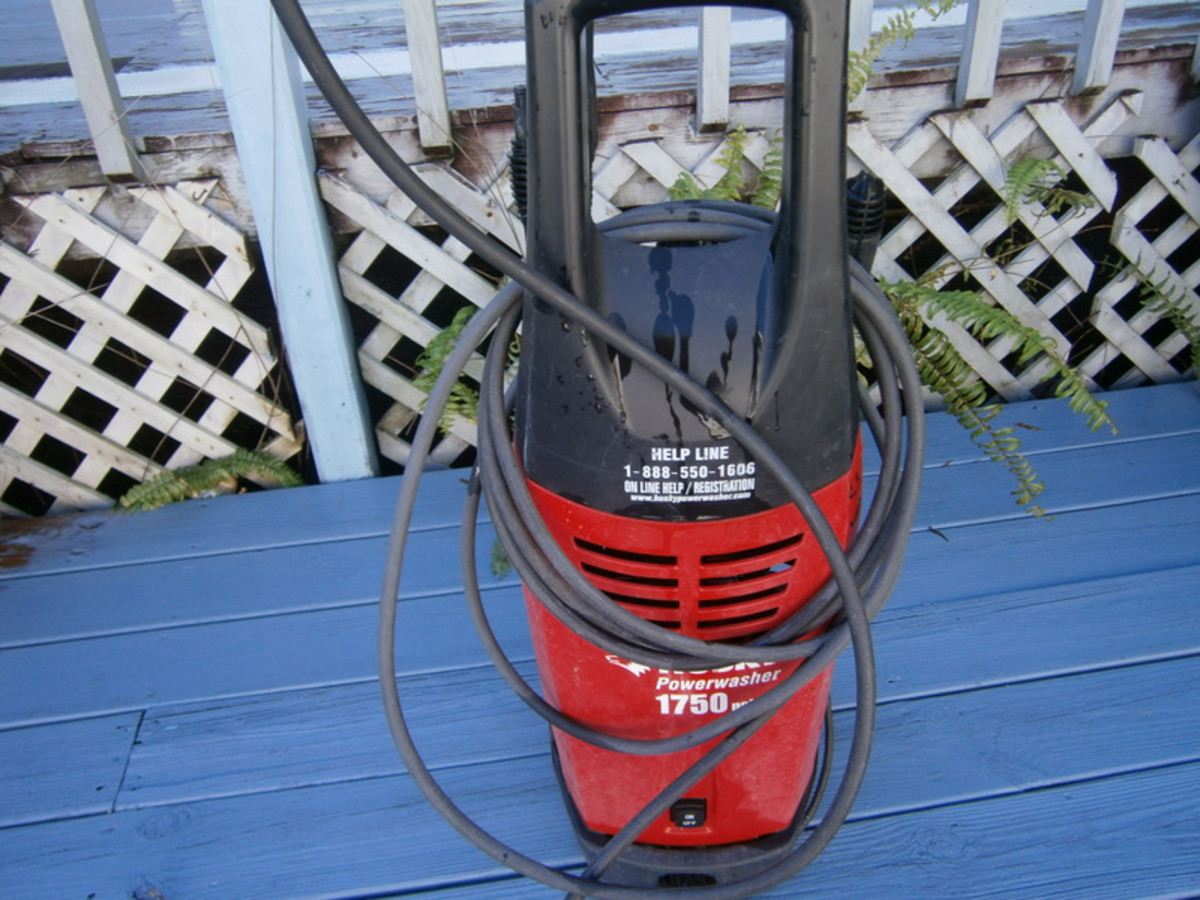 This is the pressure washer I use for all sorts of cleaning around my house.  I rent it out when I'm not using it!