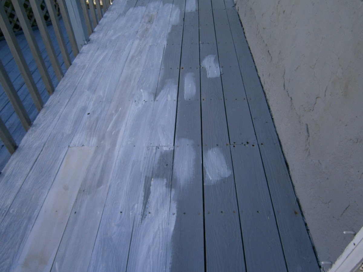 The porch is primed and ready for painting.