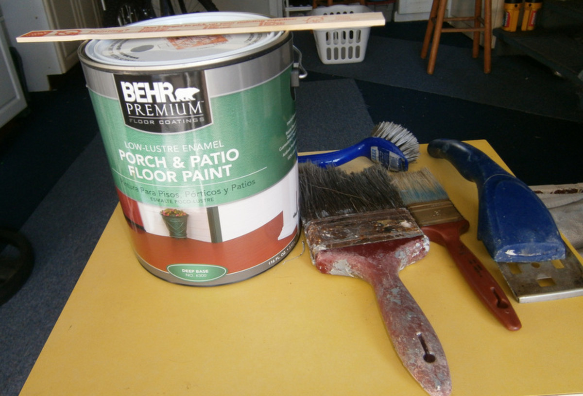 These are the necessary supplies for painting the porch and deck.