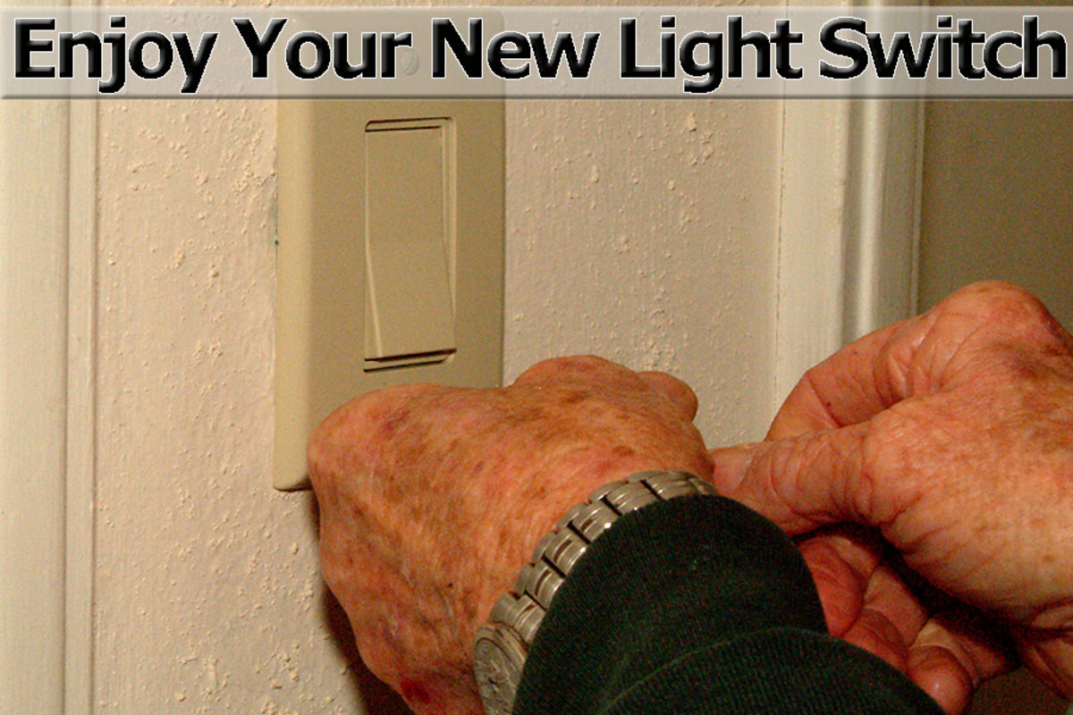 Finished light switch project
