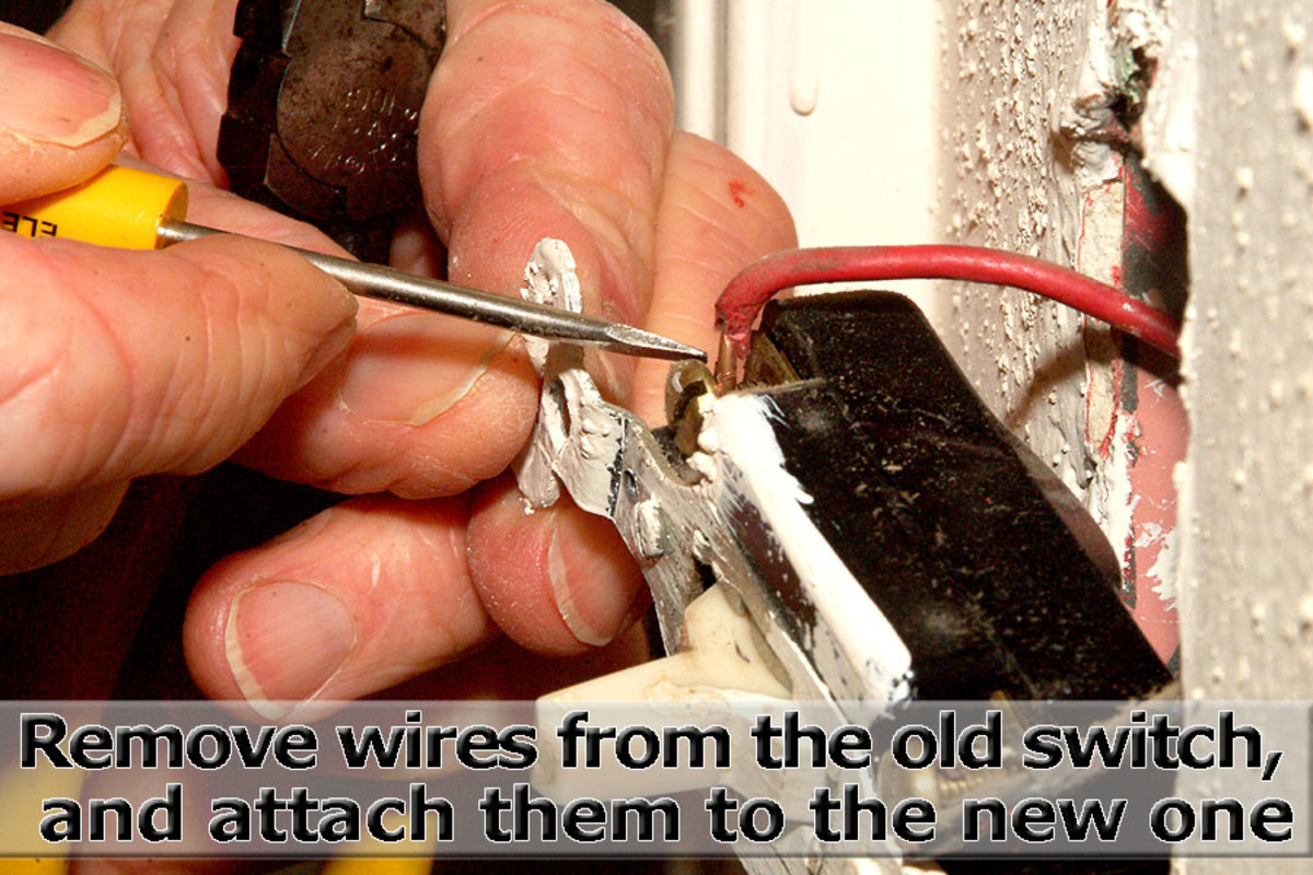 Remove wires from old switch and attach them to the new switch.