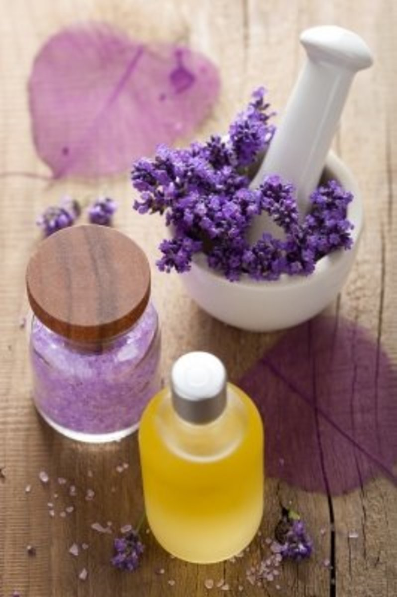 Bath salts, bubble bath, and oil are some of the many beauty products you can make with dried or fresh lavender.