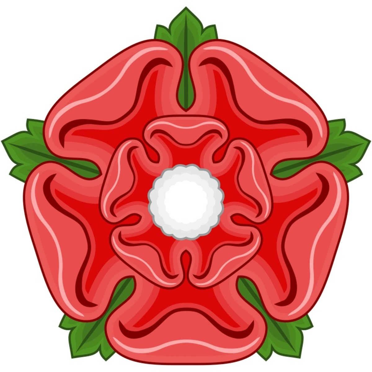The badge of the House of Lancaster was a stylized version of the Apothecary's Rose.