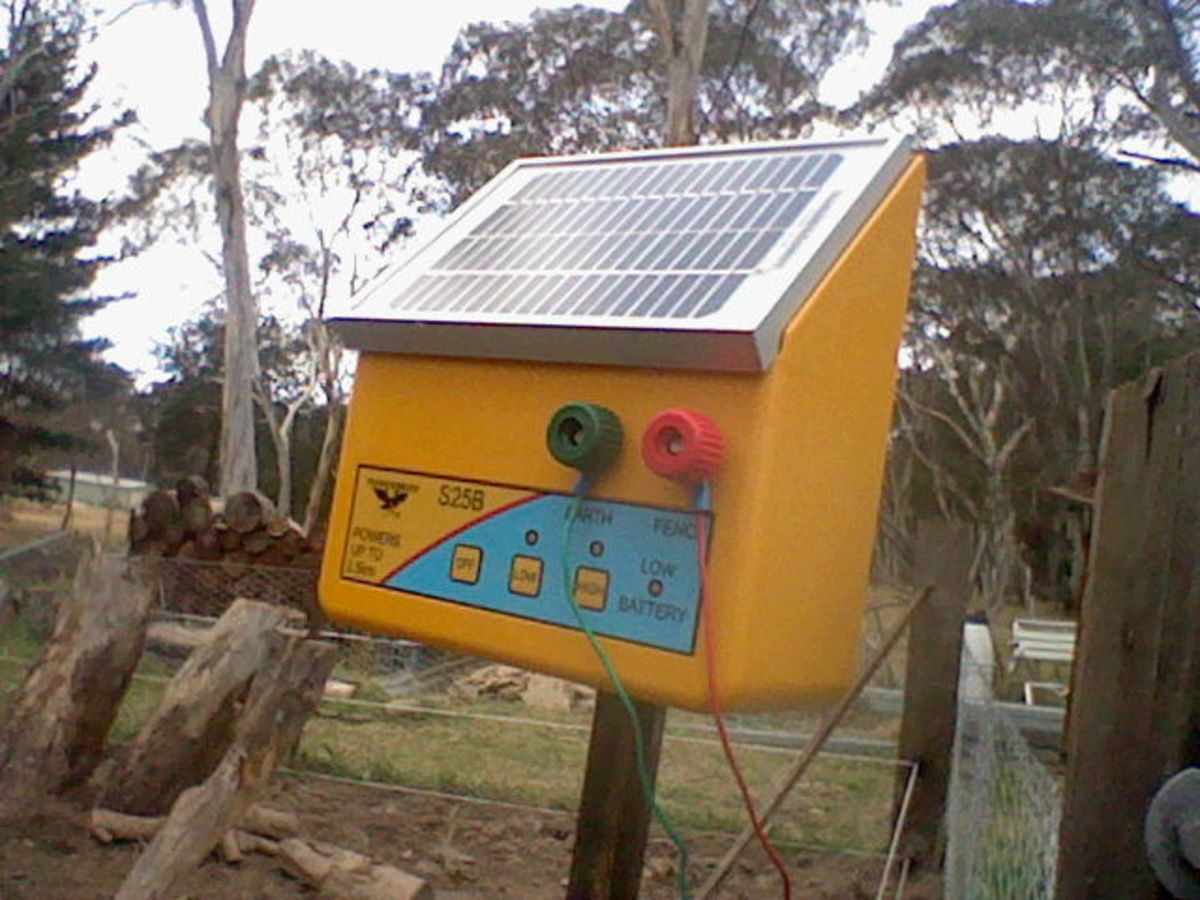 Cost effective electric fencing when living off the grid. This is our solar electric fence control box.