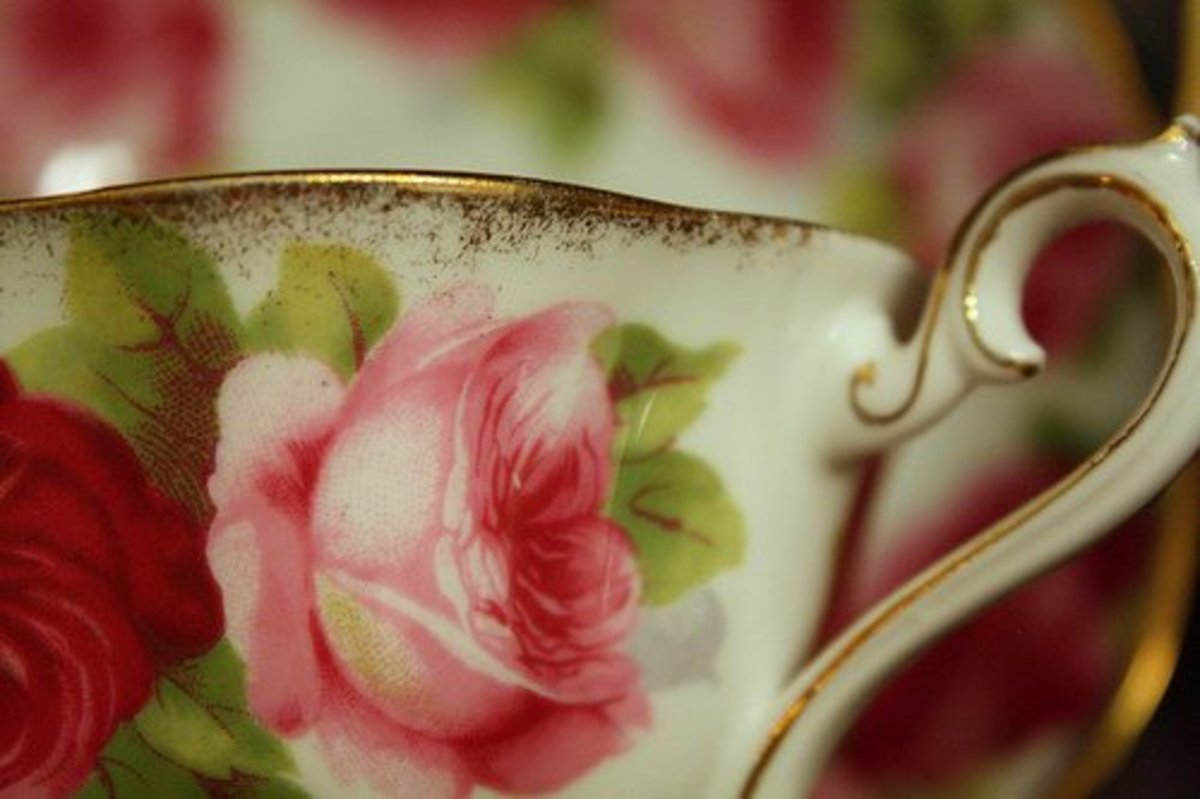 This teacup would make a lovely tieback for a  sheer curtain panel.