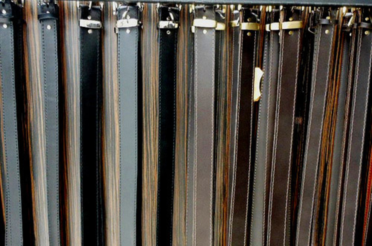 Consider the belts in your closet as potential curtain tiebacks!