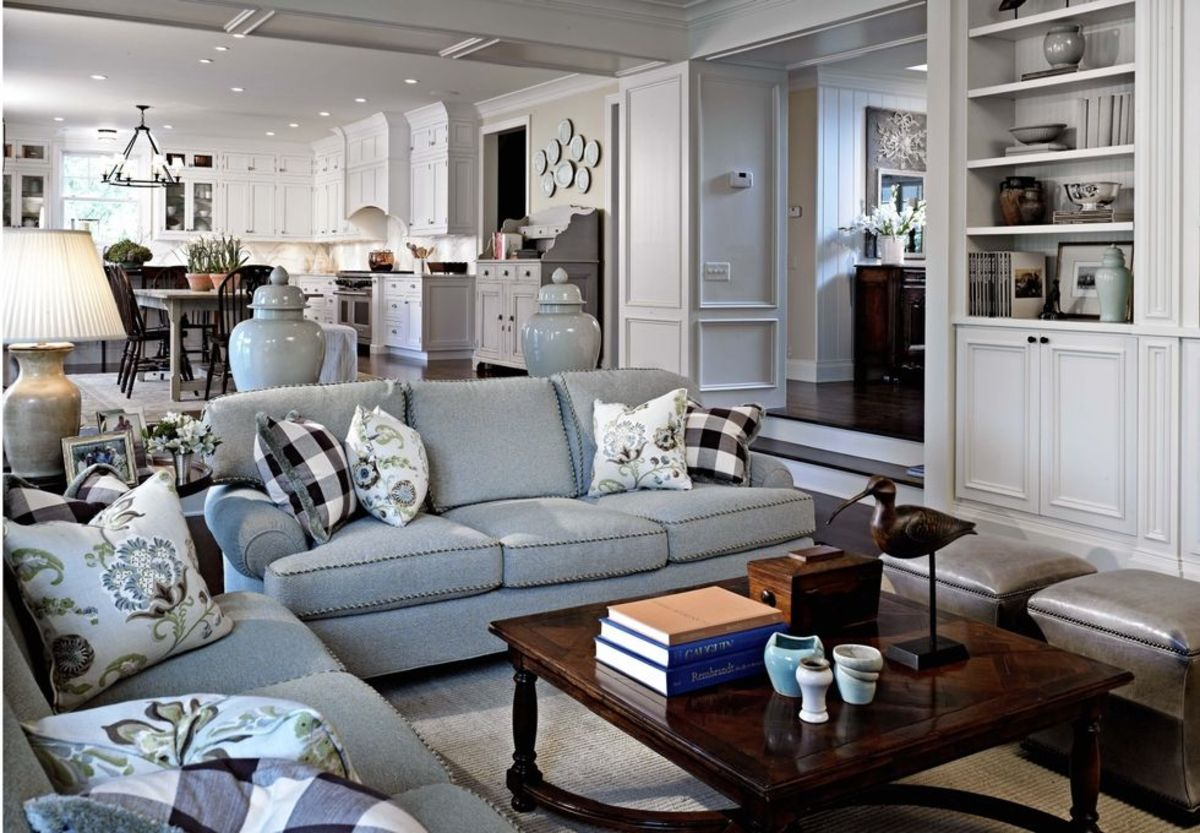 Furniture placement can do wonders to visually divide an open concept floor plan.