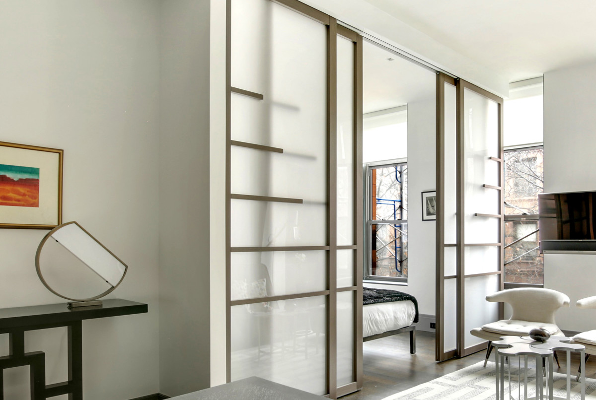 Gliding room dividers are extremely practical to create privacy in open floor plans.