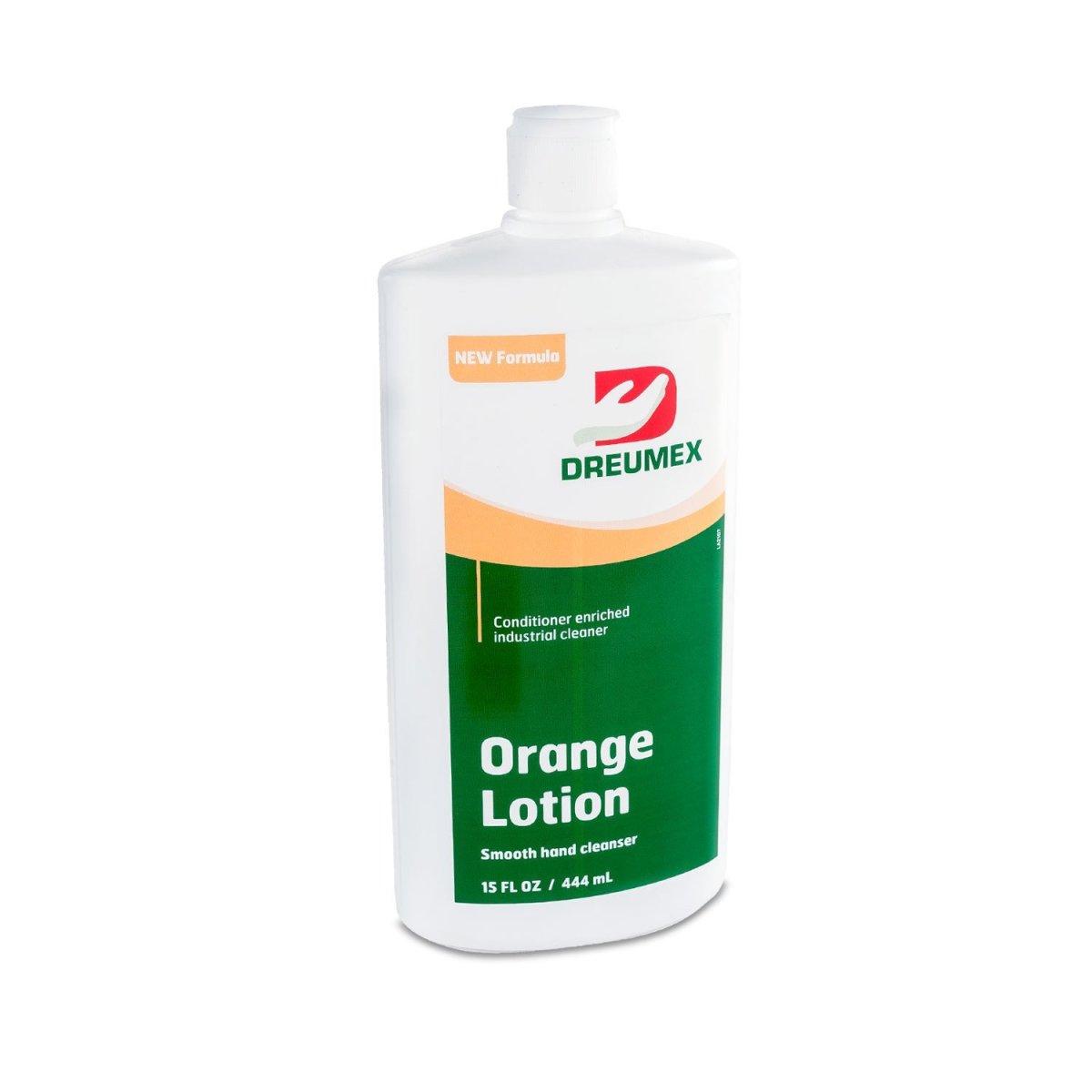 Dreumex Pumice Heavy Duty Hand Cleaner Orange Lotion Bottle
