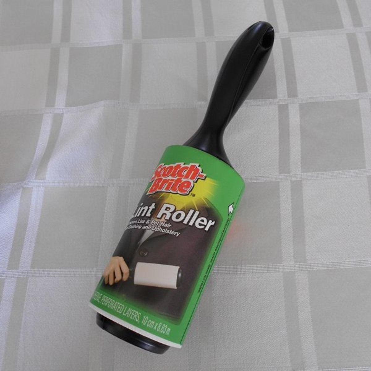 Scotch-Brite Lint rollers are great for removing hairs from carpet, upholstery and clothing