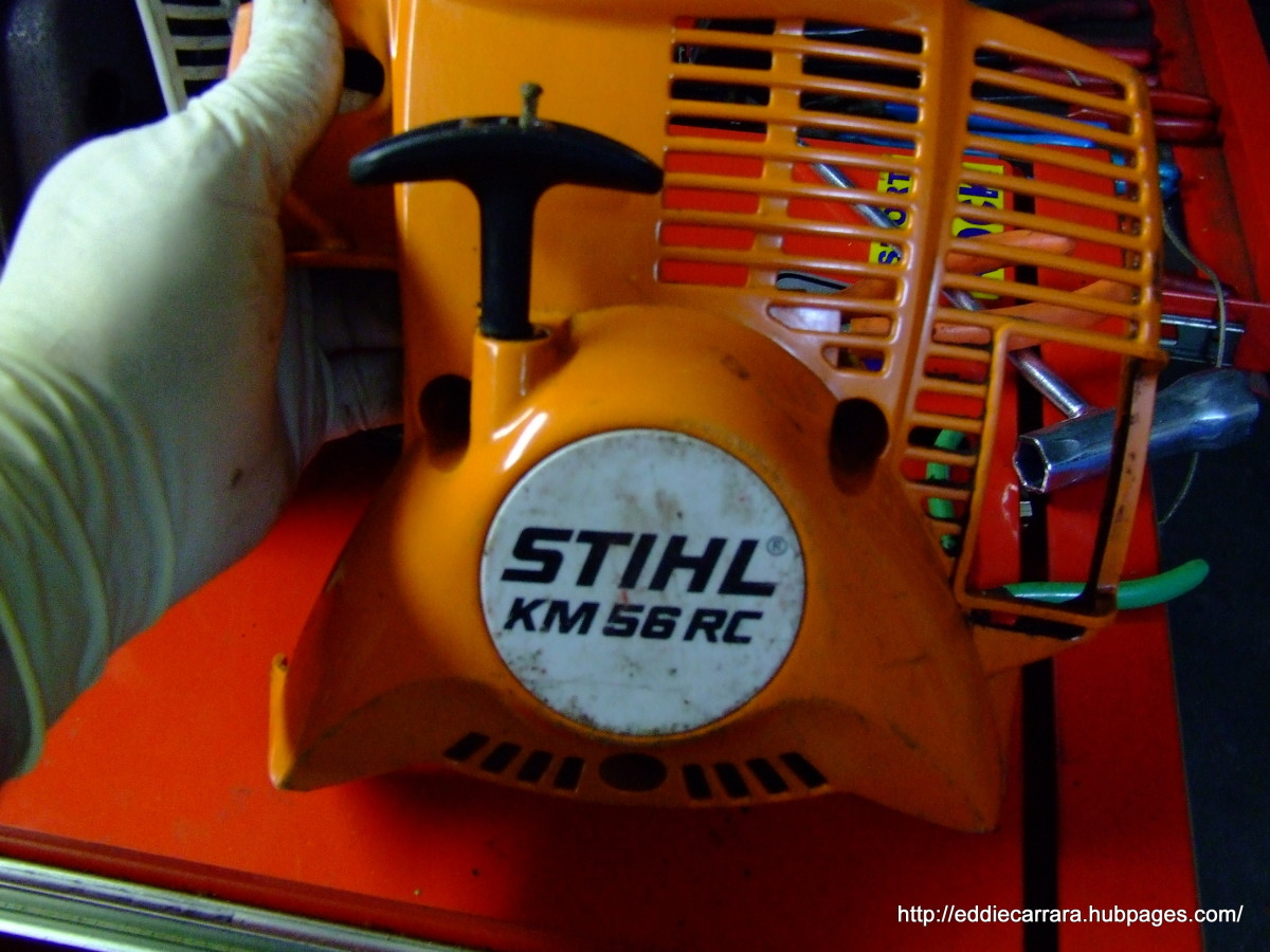 How to Replace the Pull Cord on a Stihl KM 56 RC Trimmer | Dengarden
