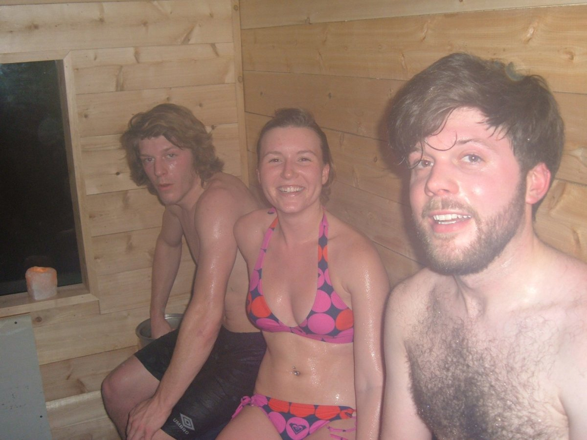 Enjoying the First Sauna