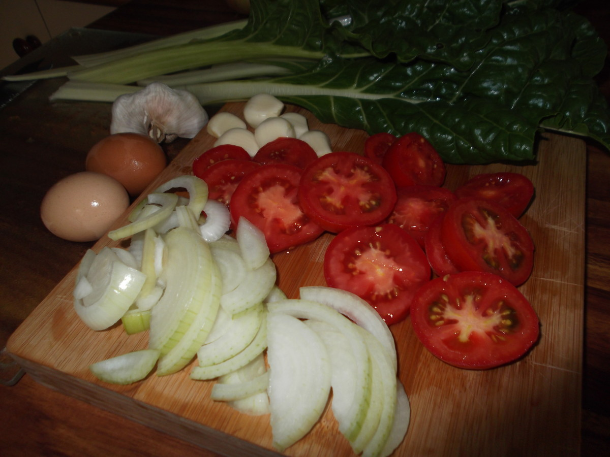 Mmmm. I love preparing meals with my own organic home-grown foods!