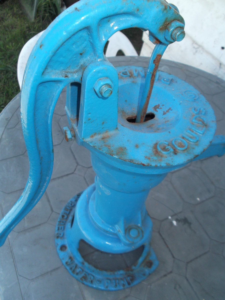 A hand-operated pump allows you to retrieve water from a well without needing power. What a gem!