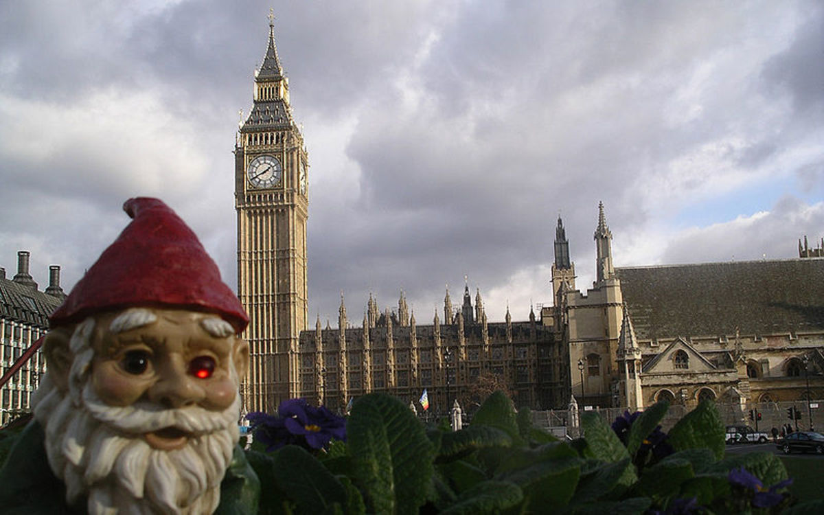 The traveling gnome prank (the roaming gnome).