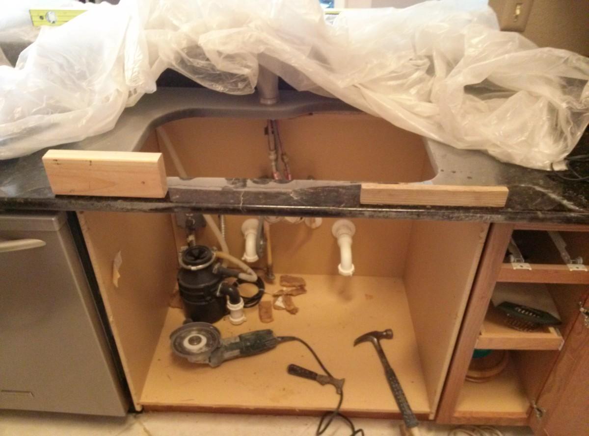 rusting-reinforcement-rod-repair-in-granite-countertop