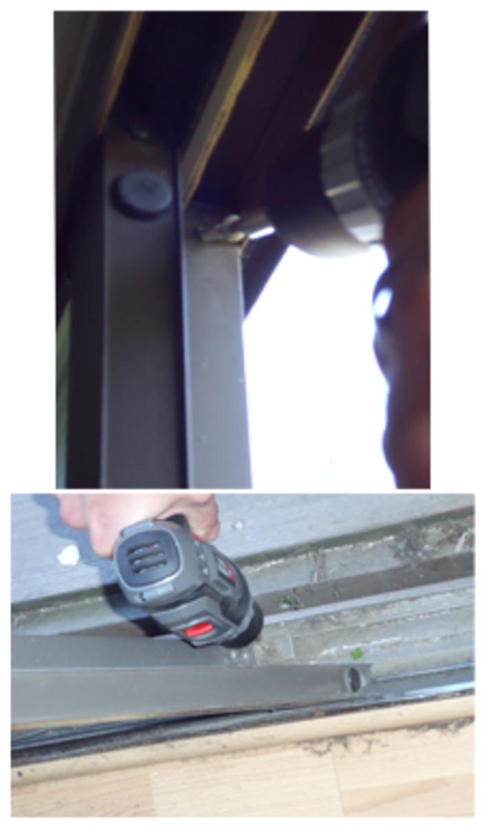 Remove screws holding door panel in place.