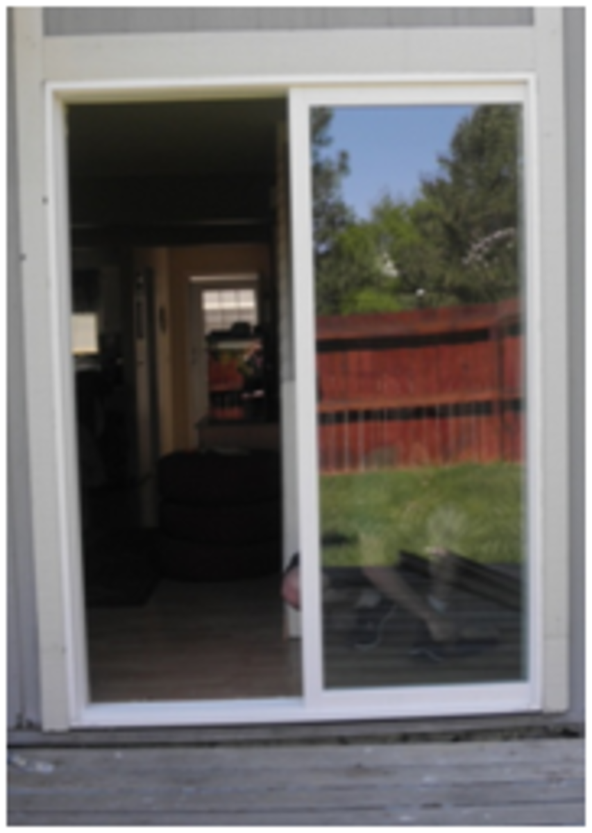 Vinyl sliding glass door