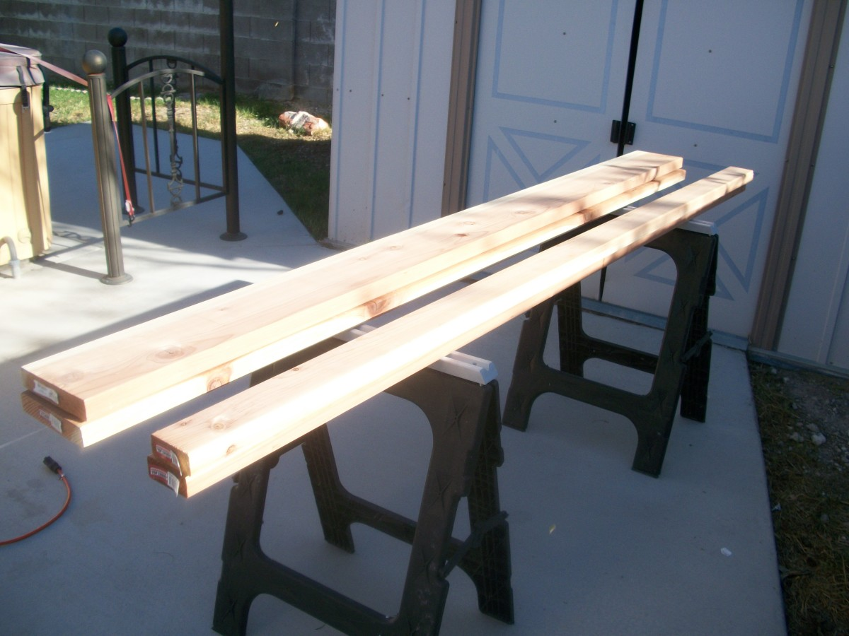 The four redwood boards used for this project cost $42.22.