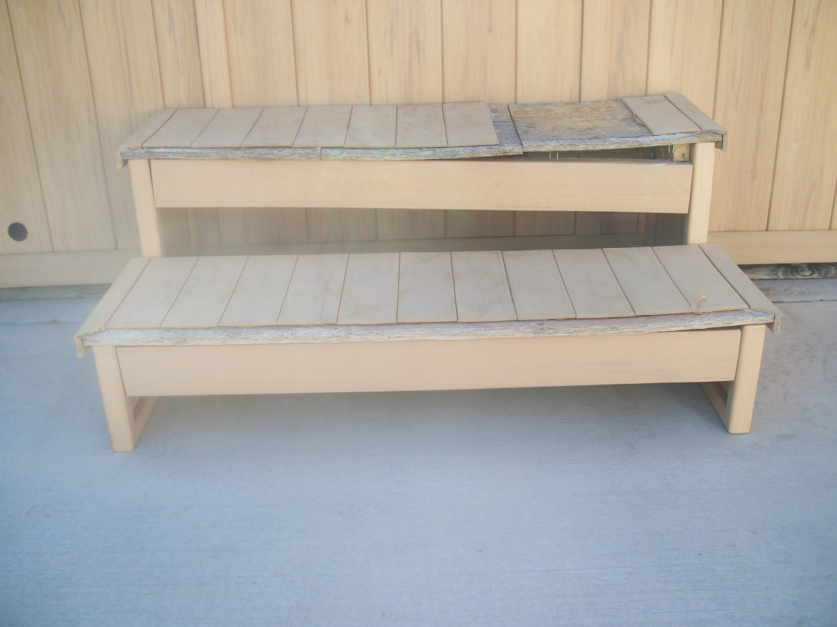 Original factory-made spa steps cost over $200 and lasted four or five years.