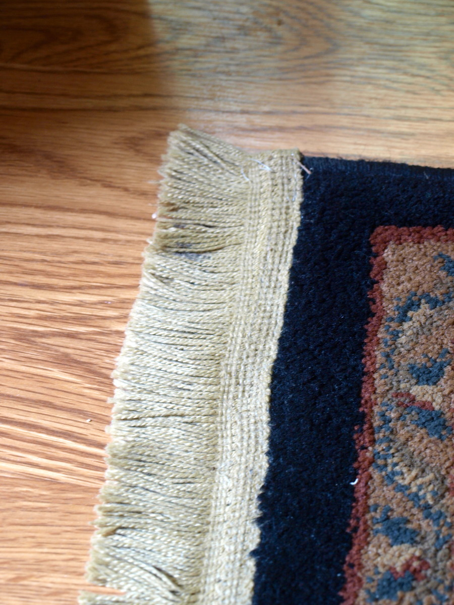 This repaired rug looks almost as good as it did when I first bought it.