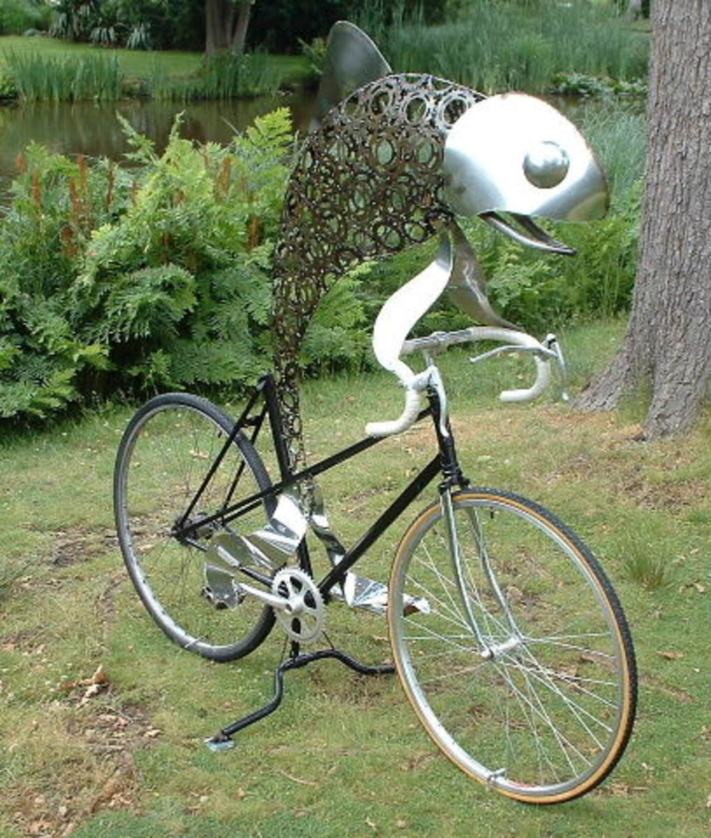 """""""Fish on racing bicycle"""" by Daren Greenhow"""