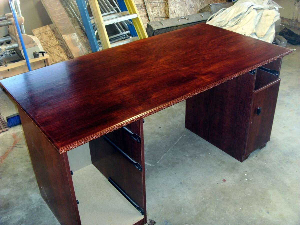 The finished desk surface