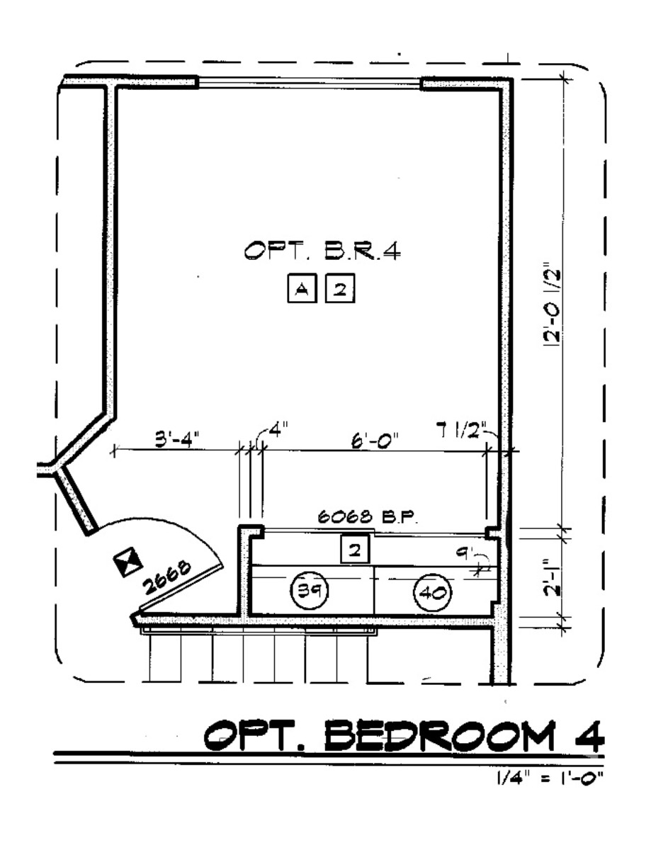 The floor plan of my daughters room taken from the architectural plan set.