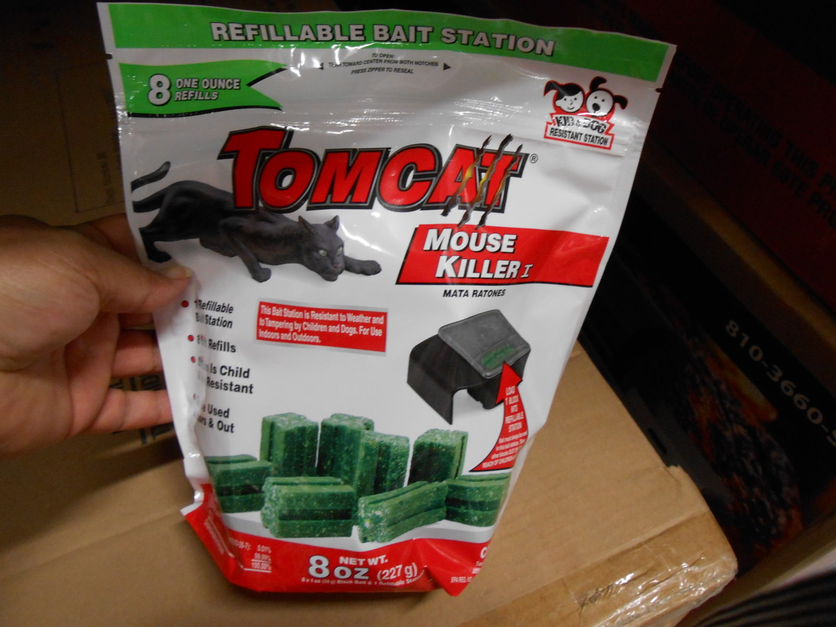 TOMCAT is just one of many brands of mouse bait.
