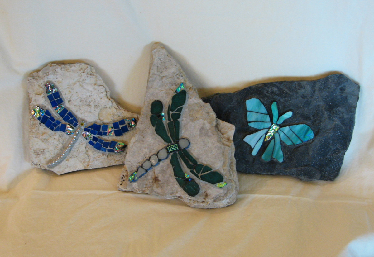 More dragonflies and a moth (sold)