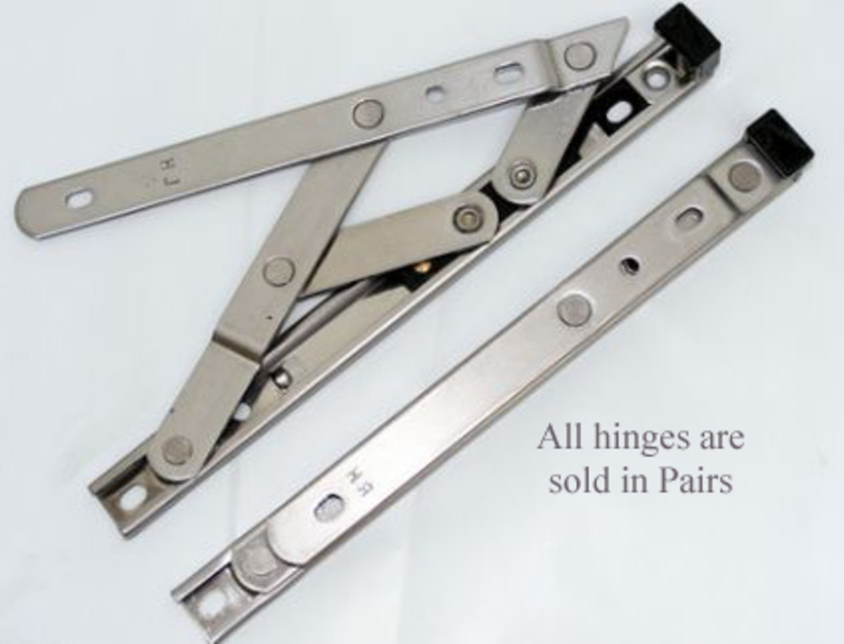 An example of window hinges. remember to replace broken hinges.