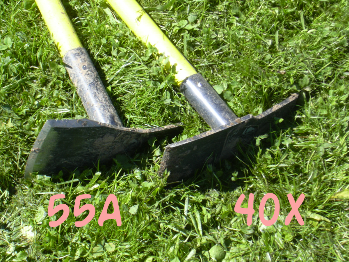 Two Rogue Hoes for Turning Sod - 55A and 40X.  Either one would do.  You don't need both.