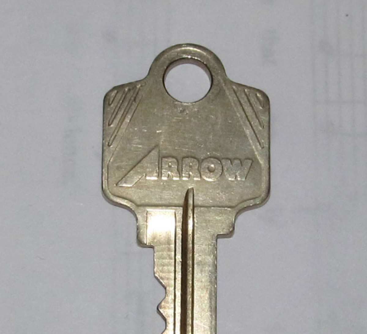 Figure 6a - An Arrow Lock Company Original Key Blank