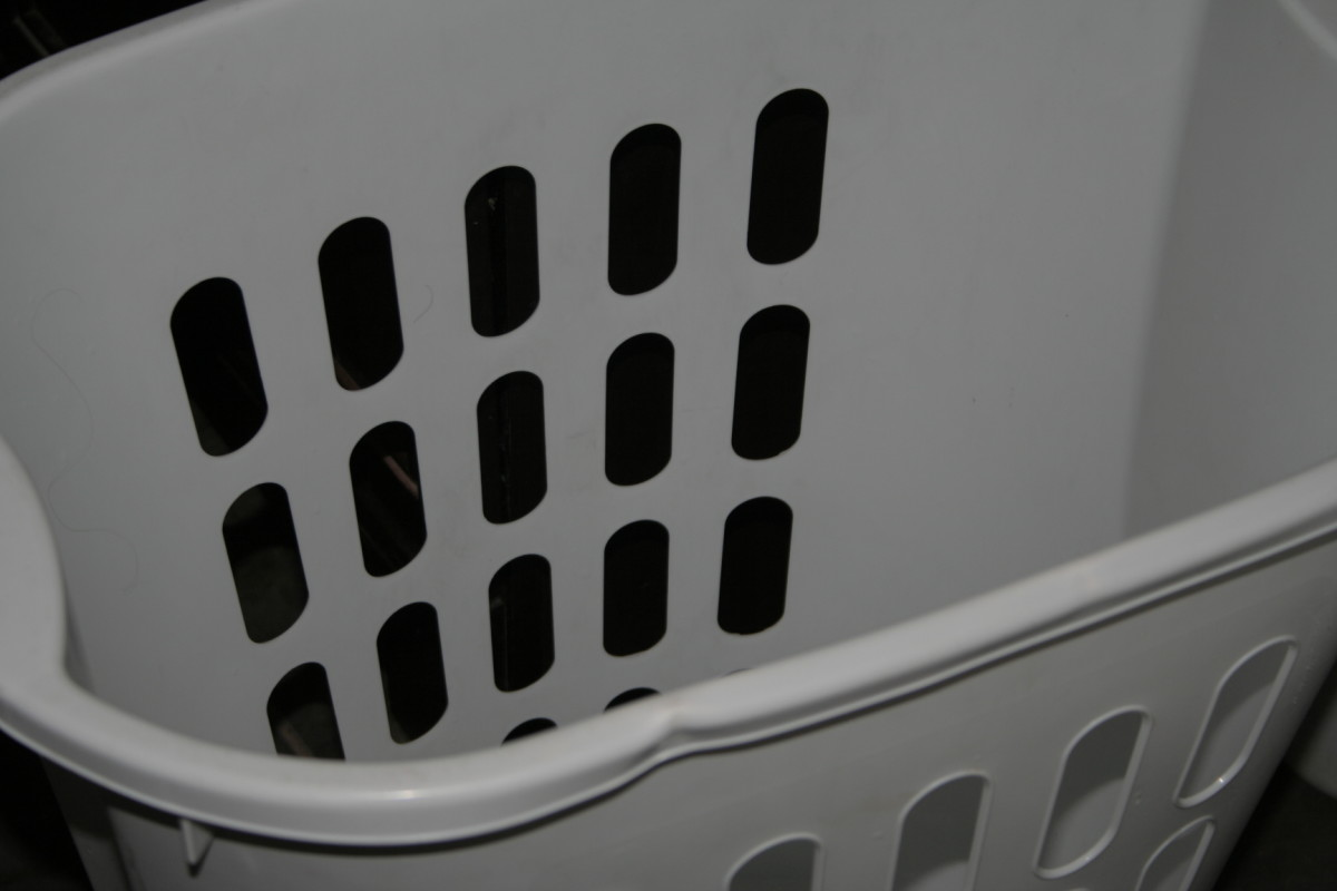 You'll need an empty laundry basket to toss in the washed, rinsed, and wrung-out clothes.