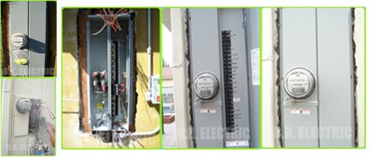 A few images of different types of electrical panels.