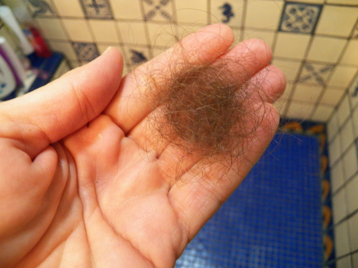 Hair taken from drain strainer after just a couple of days.