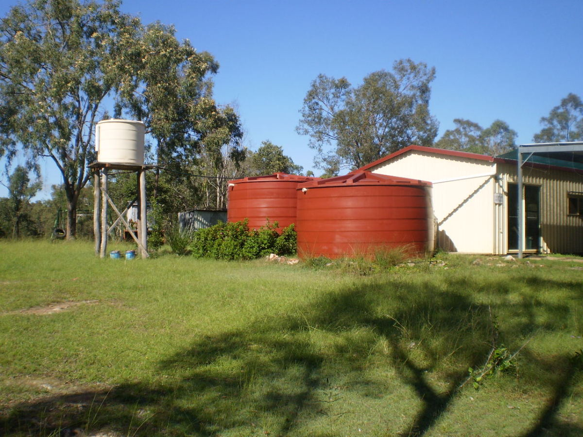 Sufficient rainwater tank storage is essential.