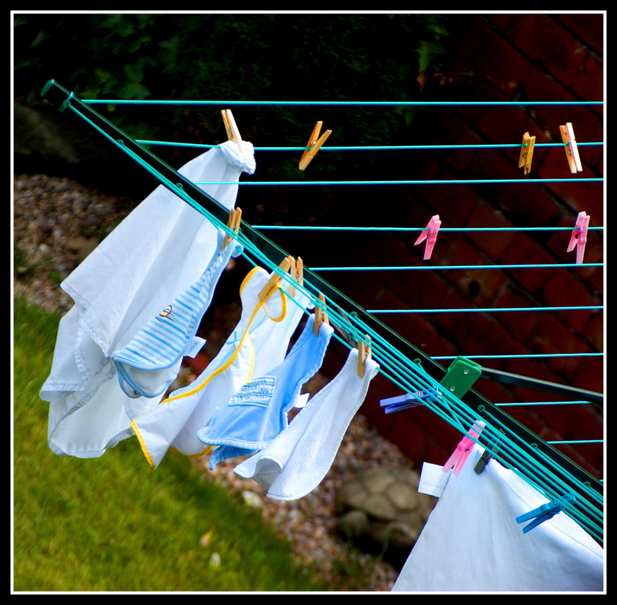 Clothes on the line.