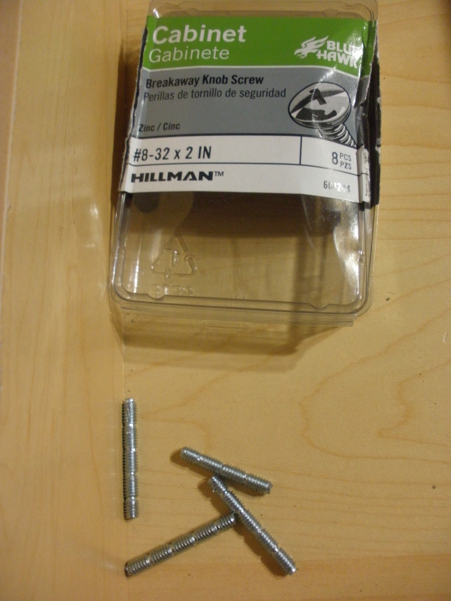 These are the parts of the screws that were broken away.