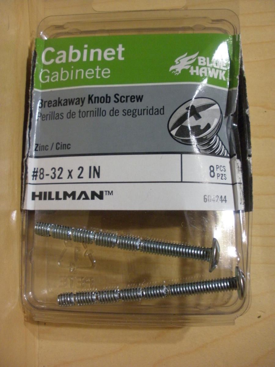 Breakaway screws.