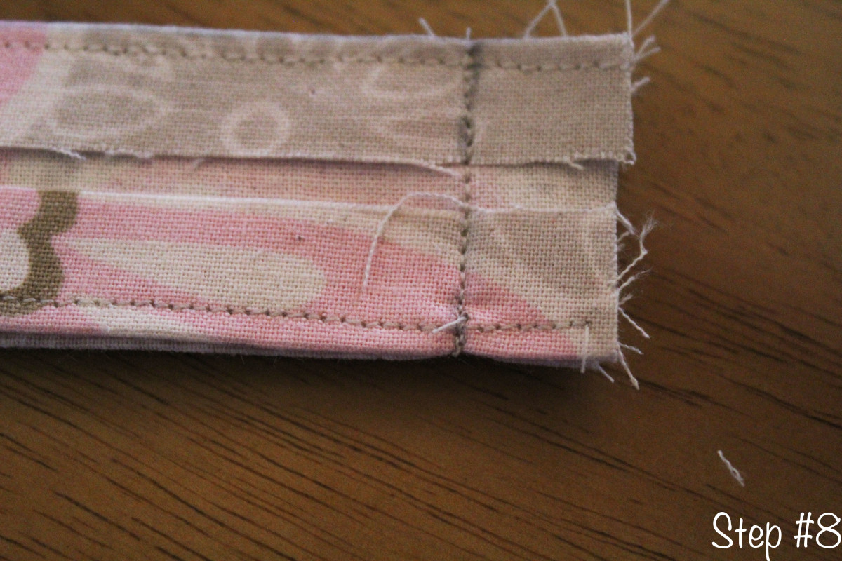Sew the two short edges together.