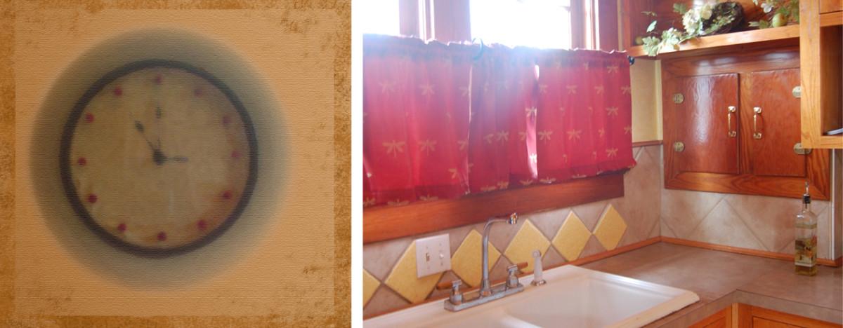 Minimalist Homemaking, Clock and Sink