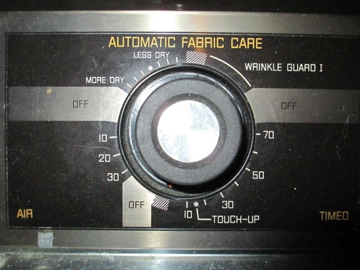 Dryer Settings Dial