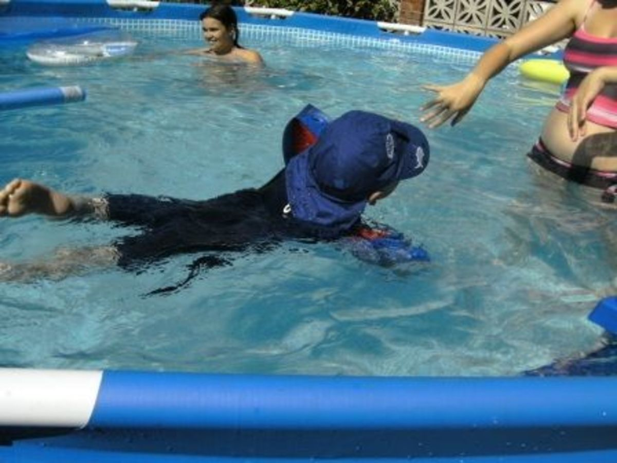 Great for kids to learn to swim in a safe environment
